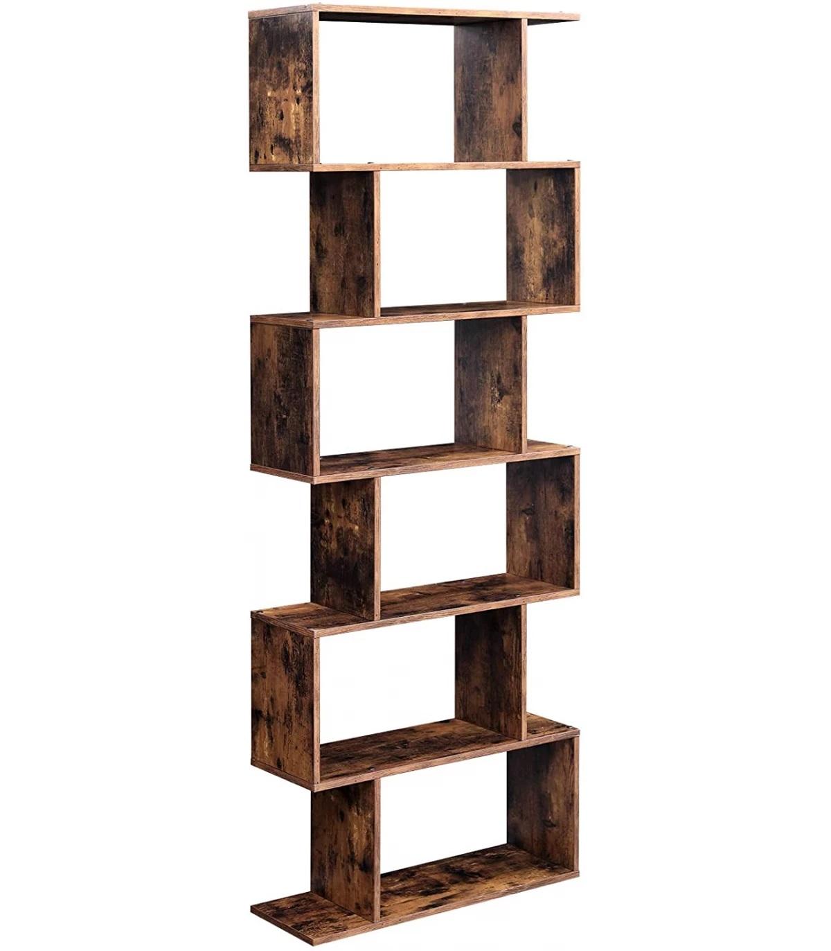 Raft pentru cărți aspect lemn jucăuș, versatil și foarte modern